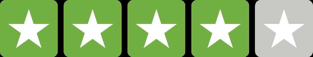 Trustpilot stjerner