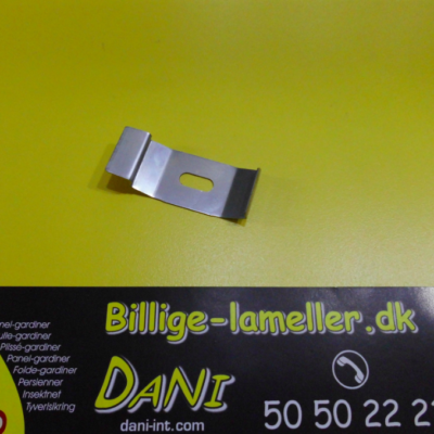 Monteringsbeslag (stål klips) til 45x25mm system, sølv